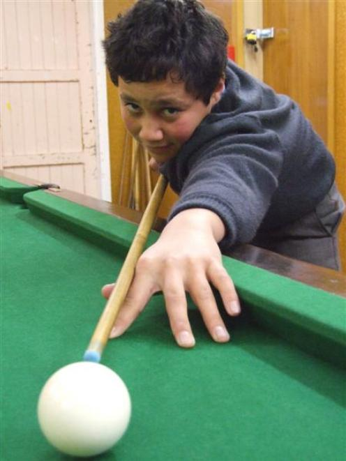 Healey White is making a name for himself in snooker circles. Photo by Sally Rae.
