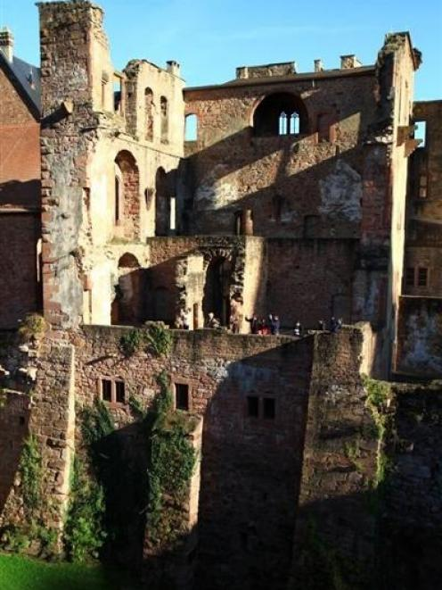 Heidelberg Castle stands on a hill above the town. Photos by Jeff Kavanagh.