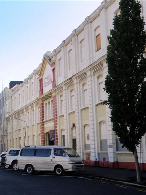 Heritage buildings in Dunedin, around Vogel St, including the former Donald Reid warehouse, and...
