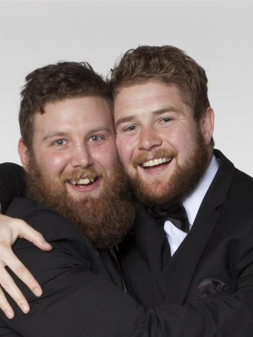 Heterosexual Dunedin men Travis McIntosh (left) and Matt McCormick,  who are preparing for their...