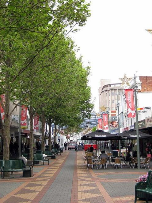 Hobart's main street, Elizabeth St, is pedestrianised along its downtown stretch, hosting retail,...