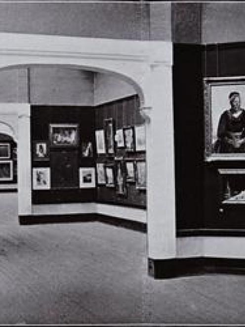 How art was displayed during the 1925-6 New Zealand and South Seas Exhibition. Photo supplied.
