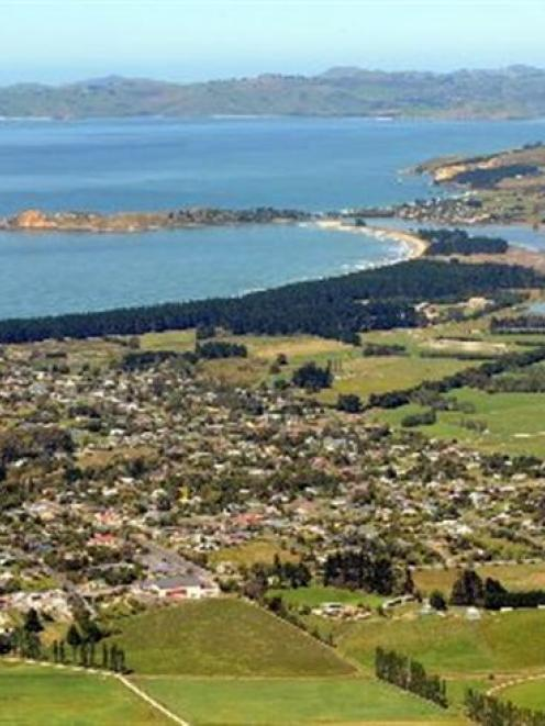 Huriawa Peninsula (centre) is to become the first Otago/Southland wahi tapu area to be registered...
