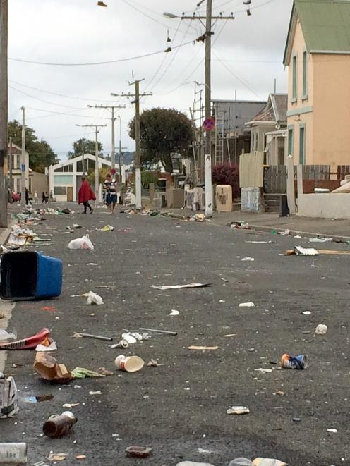 Hyde St on Sunday morning. Photo by Hamish McNeilly