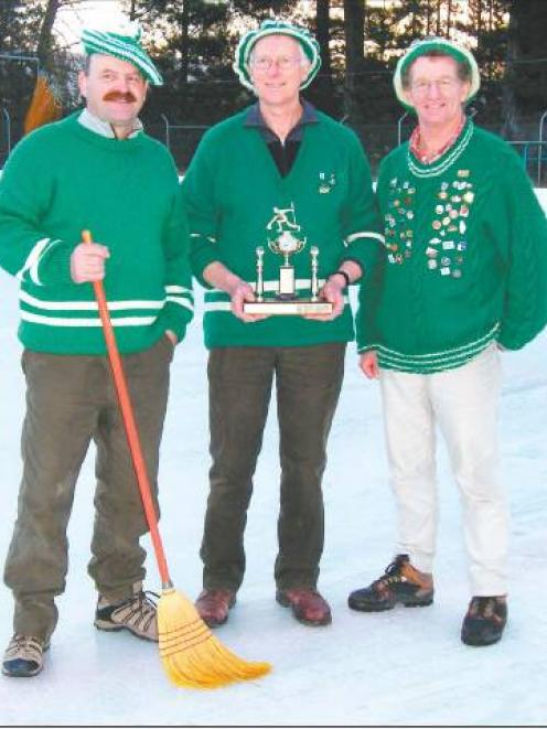 Ice victory: Macrae Trophy winners (from left) Leo Hulme, Murray Petherick and John Campbell, all...