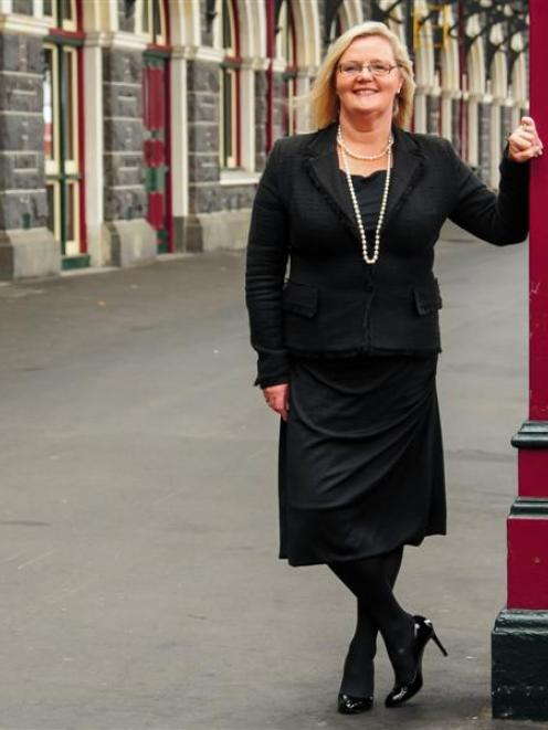 iD Dunedin Fashion Week chairwoman Susie Staley at the Dunedin Railway Station.  Photo by Chris...