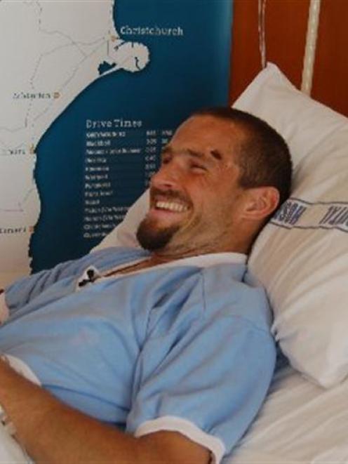 Injured tramper Matthew Briggs. Photo by the Greymouth Star.