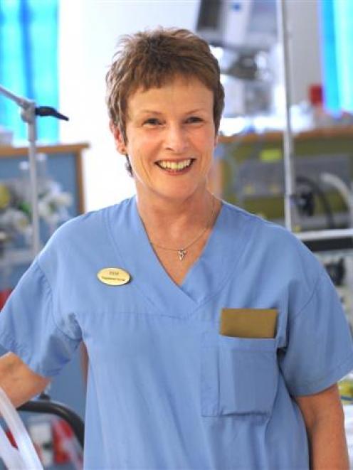 Intensive care nurse Pam Adams. Photo by Peter McIntosh.