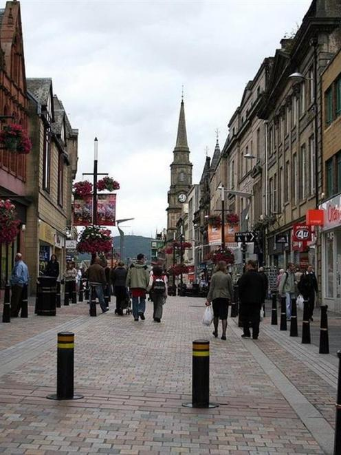 Inverness, on the coast of the Scottish Highlands, contains a highly pedestrianised central city,...