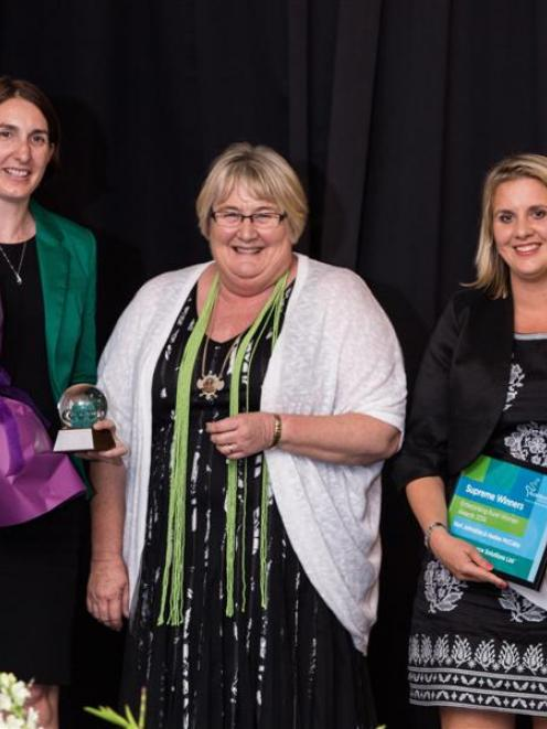 Irricon Resource Solutions principals Keri Johnston (left) and Haidee McCabe, winners of the...