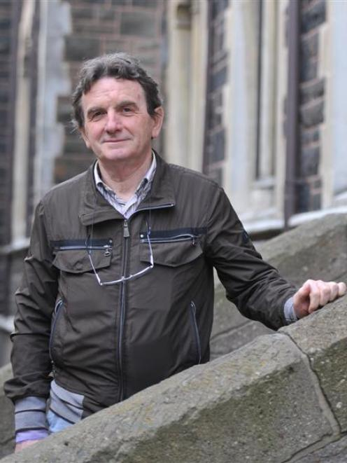 Italian engineering researcher Prof Claudio Modena is pictured outside the University of Otago's...
