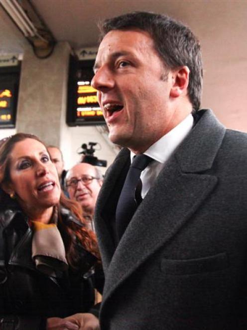 Italy's Prime Minister-designate Matteo Renzi. REUTERS/Stringer