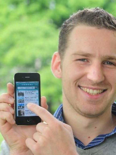 iVisit chief executive Pierre-Emmanuel Perruchot de La Bussiere, of Dunedin, shows the...