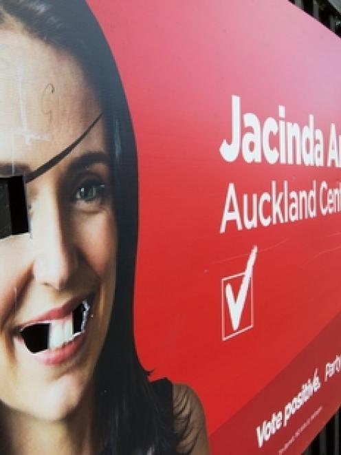 Jacinda Ardern has taken on a pirated look. Picture / Brett Phibbs