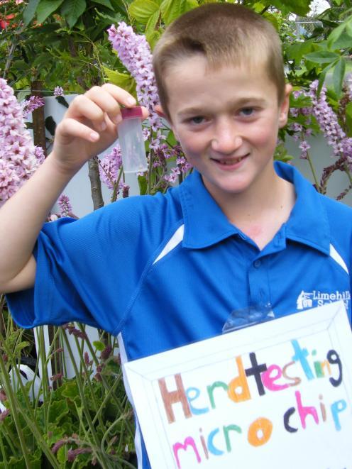 Jack Pyle, 11, of Limehills School