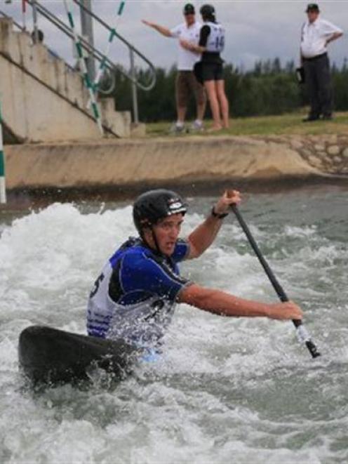 Canoeist James Dawson in action.