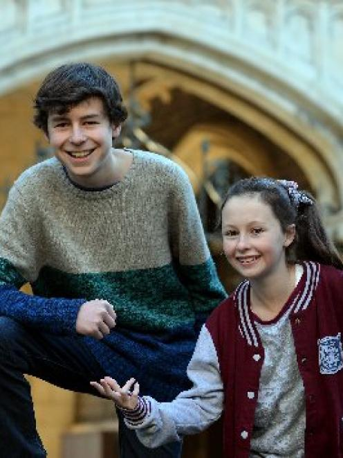 James Mustapic (left) and Ella Cameron (right) after being named age group winners in the New...
