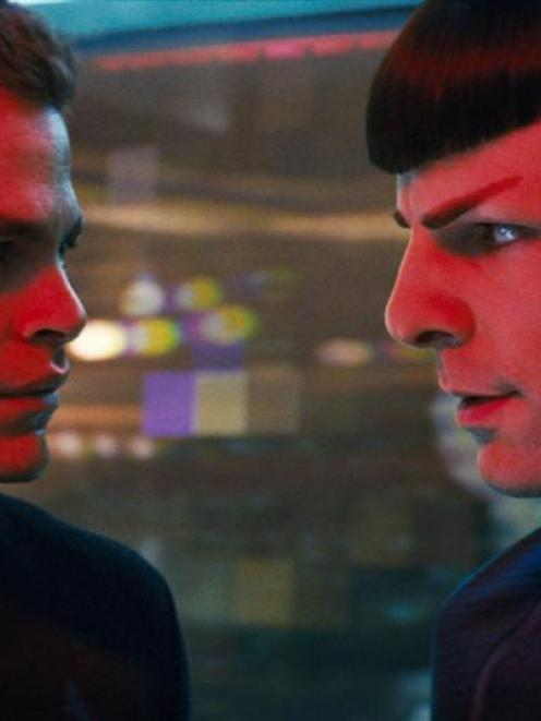 James T. Kirk and Spock.