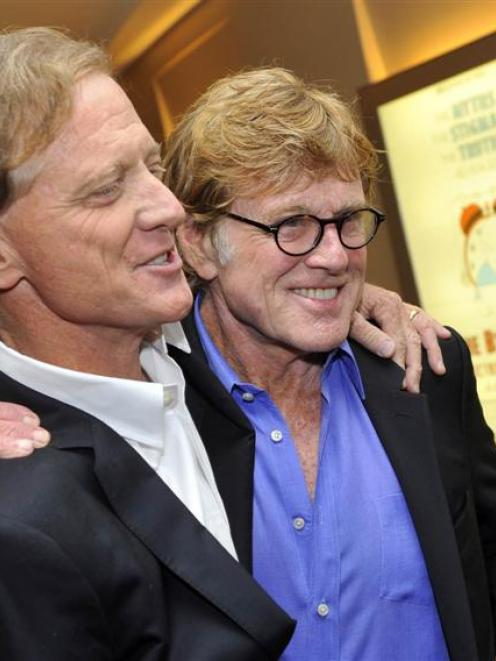 Jamie Redford and his father, actor Robert Redford, at the premiere of The Big Picture in New...