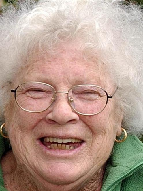 Janet Frame in 2003. Photo by Fairfax.