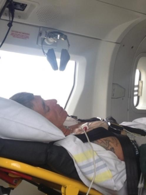 Janet Kelland was airlifted to Taumarunui Hospital where she spent last night. She hopes to be...