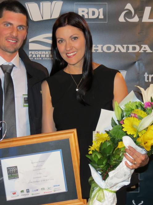 Jared Crawford and wife Sara, of Riversdale, were thrilled when Jared won the New Zealand Dairy...