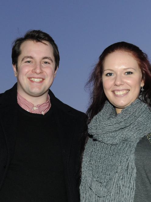 Jason Brinsley-Pirie (23) and Kimberly Lawrence (22) reflect ...