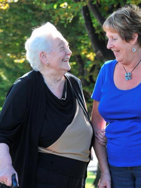Joan Kernaghan (left) and Marion Wilson talk about their success at the New Zealand Blind...