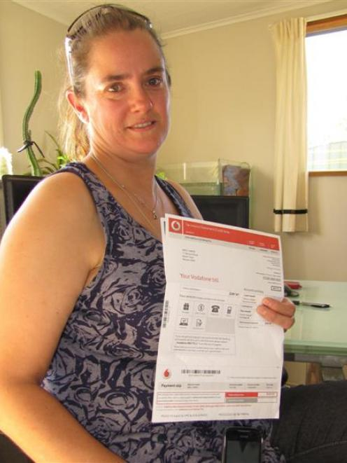 Joanne Sands is unimpressed with Vodafone's ''termination'' process. Photo by Mark Price.