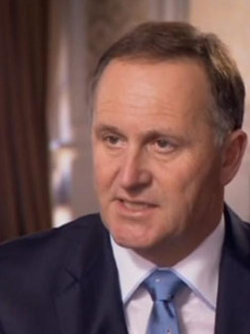 John Key on Q&A this morning. He denied his credibility had been damaged. Photo / Q&A / Screenshot