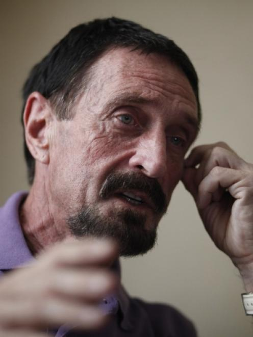 John McAfee. Photo by Reuters