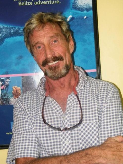 John McAfee. Photo Reuters