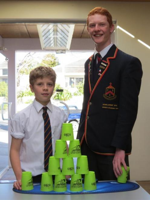 John McGlashan College pupils William McLauchlan (11) and Ben Lovelock (17) have been selected...