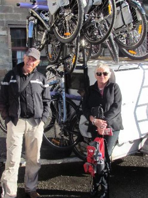 John Parker and Lucy Casey, of Auckland,  yesterday savour  being part of the first group to...