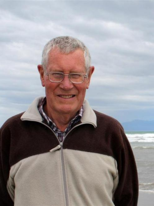 John van Leeuwen, of Invercargill, at Oreti Beach on Saturday during the commemorations of the...