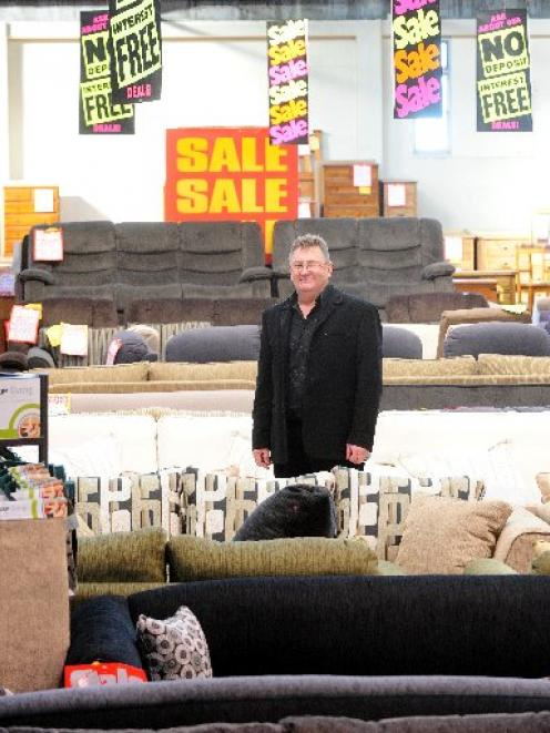 John Williamson, Owner Of Johnu0027s Furniture Warehouse, In The Shop In  Stafford St,
