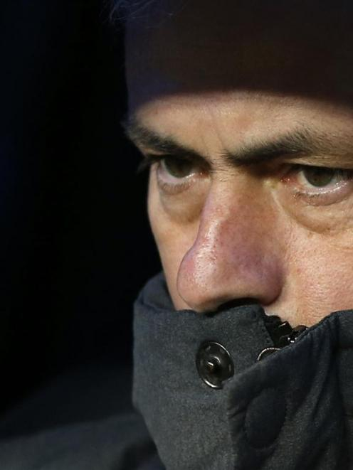 Jose Mourinho was whistled by Real Madrid fans. REUTERS/Juan Medina