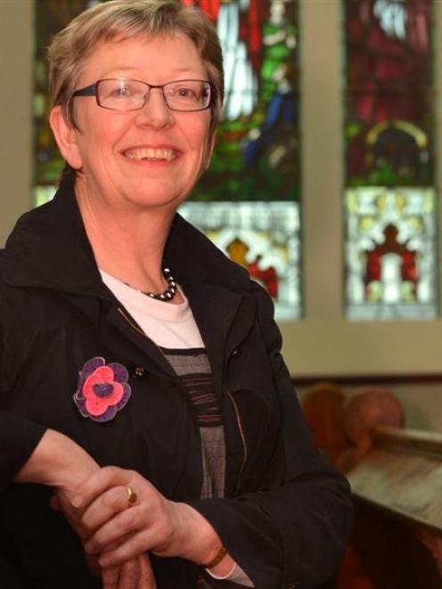Joy Davis at East Taieri Church. Photo by Peter McIntosh.