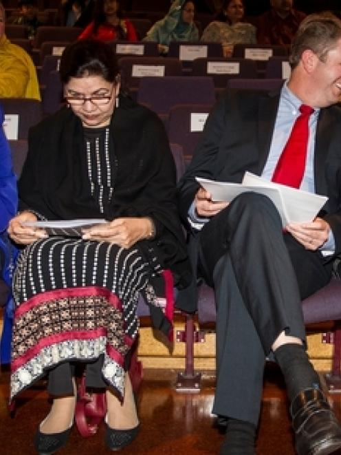 Judith Collins, left, Pakistan High Commissioner Zehra Akbari, David Cunliffe and Phil Goff at...