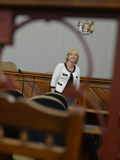 Justice Minister Amy Adams, inside Dunedin's historic courthouse yesterday, could shed no light...