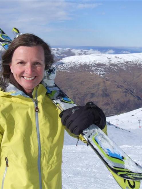 Karen Skillen is visiting ski resorts around the world promoting fundraising initiatives to help...