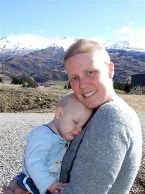 Kat Lawrenson with son Ryan (8 months). Ryan was only 8 weeks old when she was diagnosed with...
