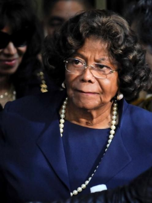 Katherine Jackson leaves the sentencing hearing of Dr Conrad Murray, who was convicted of...