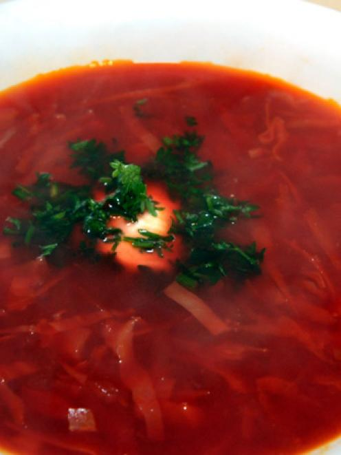 Katya's borscht. Photos by Gregor Richardson.
