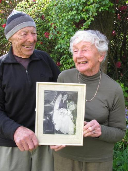 Keith and Pat Stuart, who celebrate their 60th wedding anniversary today, found each other...