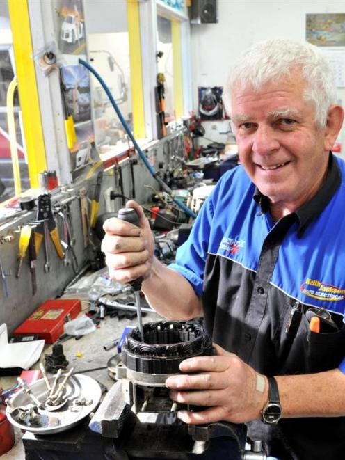 Keith Jackson (65), of Mosgiel, who  is retiring after 40 years in business as an auto...