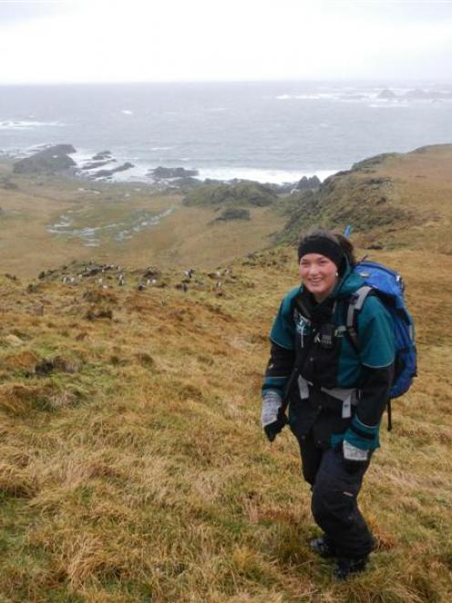 Kelly Smith works as a hunter on  Macquarie Island as part of the Tasmanian Parks and Wildlife...
