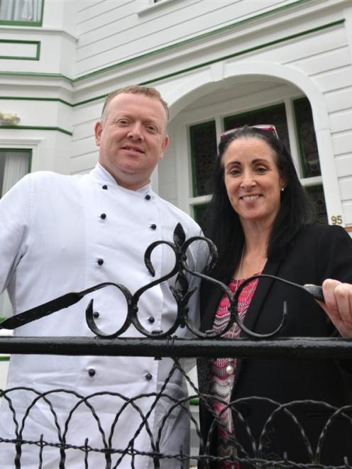 Ken and Fiona O'Connell outside Bracken, their new restaurant at 95 Filleul St, Dunedin. Photo by...