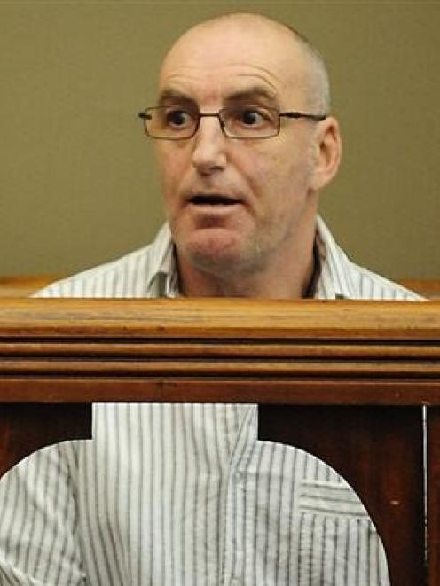Kevin Wayne Beardsmore sits in the dock at Dunedin District Court yesterday before his sentencing...