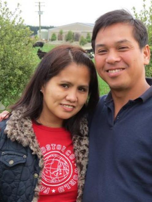 Khristine and Don Mananes live on a dairy farm near Riversdale, where he is a farm manager, and...